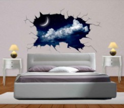 Camera da letto decoromania for Murales per camera da letto